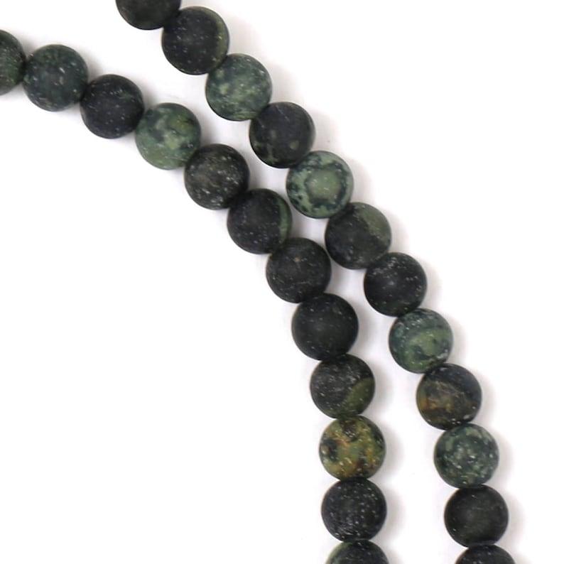 Kambaba Jasper Beads  Matte Finish  4mm Round  Limited image 0