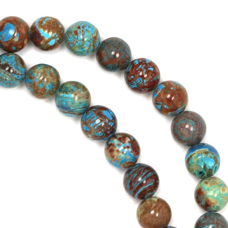 Blue Sky Jasper Beads  6mm Round image 0