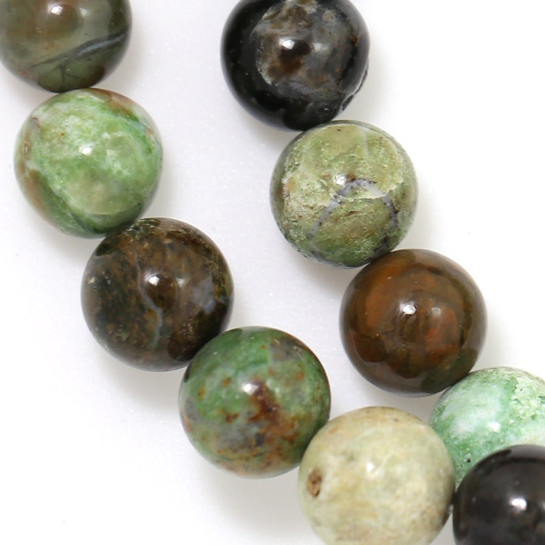 Green Opal Beads  12mm Round image 0
