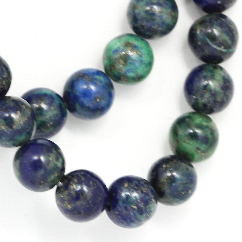 Chrysocolla Beads  8mm Round image 0