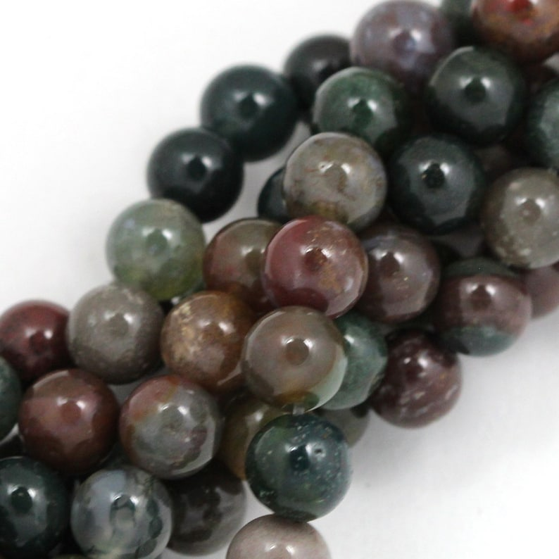 Fancy Jasper Beads  8mm Round image 0