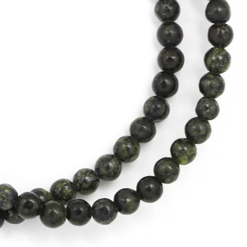 Russian Serpentine Beads  4mm Round image 0