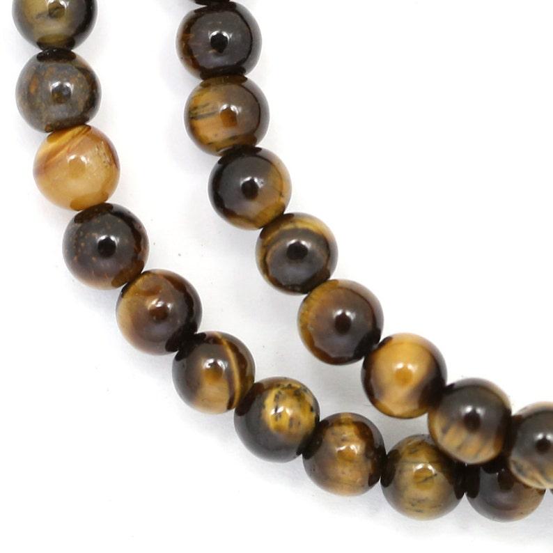 Tiger Eye Beads  6mm Round image 0