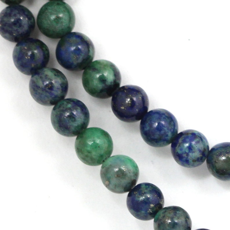 Chrysocolla Beads  6mm Round image 0
