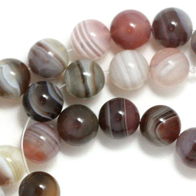 Botswana Agate Beads  8mm Round image 0