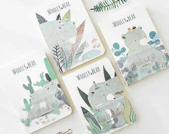 Woolly Bear Journal Blank Marble Notebook Travel Journal Planner Notebook