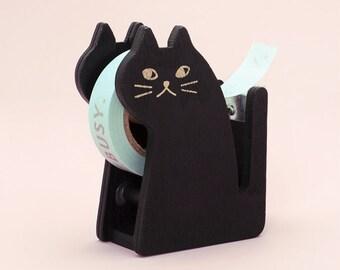 Cat Wood Washi Masking Tape Dispenser Base Masking Tape Dispenser