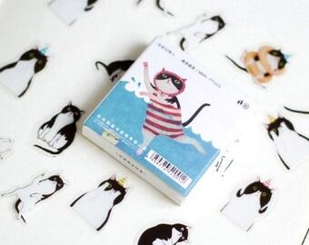 50 Pcs Cat Scrapbooking Stickers Die Cut Stickers Paper Deco Sticker Stamp