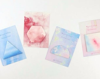 Ombre Watercolour Sticky Notes Stick Note Notepad Mini Notepad