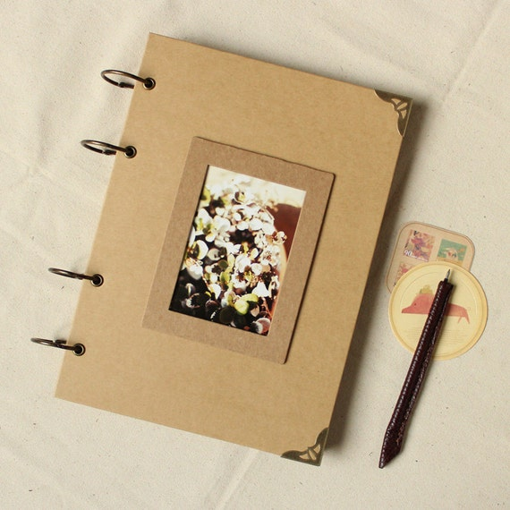 Diy Kraft Paper Wedding Album Scrapbook Album Photo Album Etsy