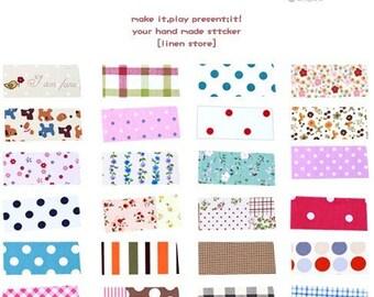 12 Sheets Korea Pretty Sticker Set Rural wind only beautiful multi-function adornment Masking LaceTape