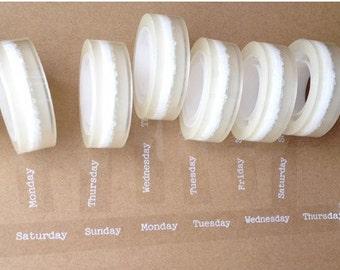 1 Rolls Adornment Translucent Narrow Sticke Decoration Masking Tape