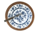 Antique Meissen Blue Onio...