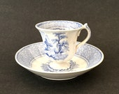 Blue Transferware Footed ...