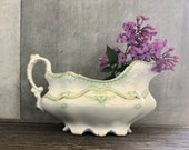 Antique Stoneware Gravy S...