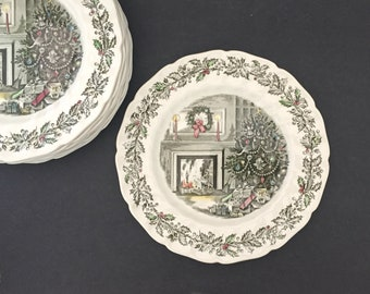 vintage dinner plate 7 avail merry christmas johnson bros vintage holiday decor dining