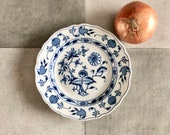 Antique Blue Onion Plate ...