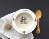 Antique Ceramic Baby Bowl...