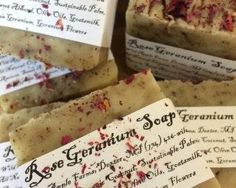 Organic Egyptian Rose Geranium Soap