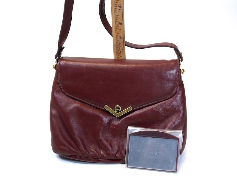 ccf4d9e88c5 Etienne Aigner Cross-body Shoulder Bag Clutch Purse Oxblood