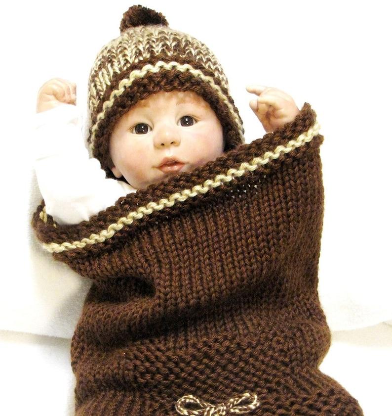 Teddy Bear Baby Cocoon Knitting Pattern Beanie Free Pod Etsy
