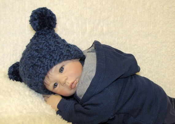 Ez Knit Jester Baby Hat Knitting Pattern Super Bulky Pdf Etsy