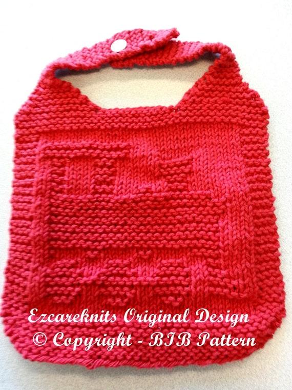 Knitting Pattern Bib Train Pdf Etsy
