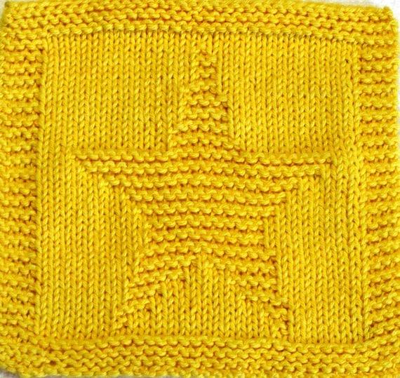 Knitting Cloth Pattern Little Star Pdf Etsy