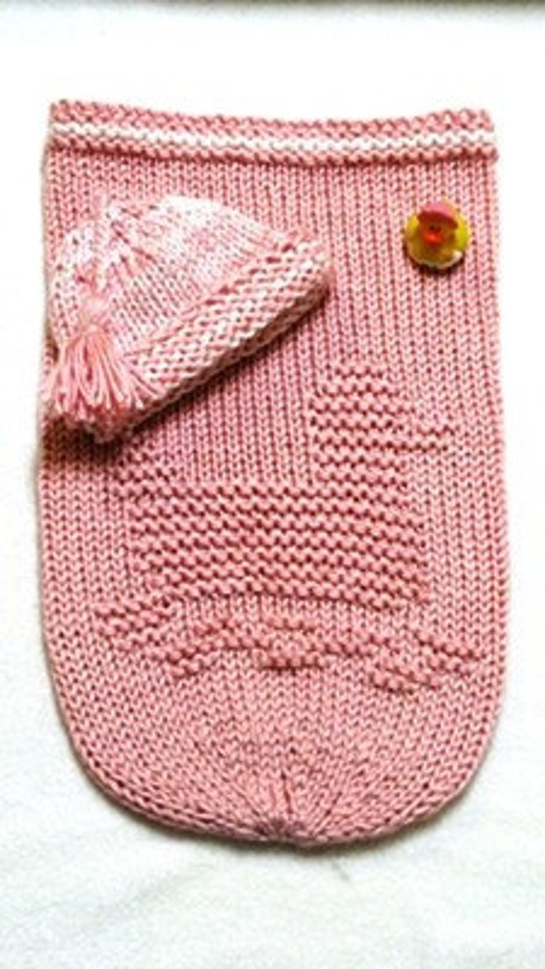 RUBBER DUCK Baby Cocoon Knitting Pattern with Beanie Free ...