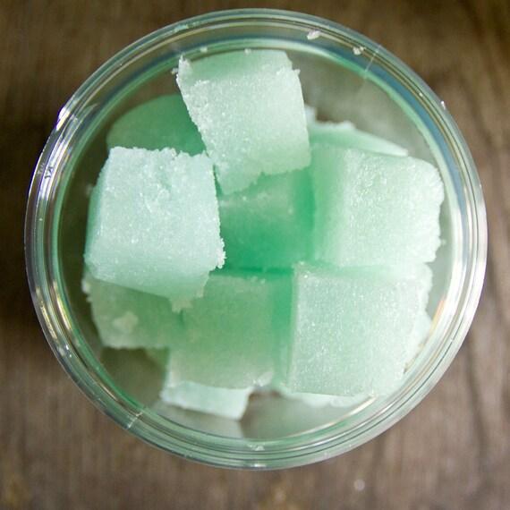 items similar to cucumber melon sugar scrub cubes great. Black Bedroom Furniture Sets. Home Design Ideas