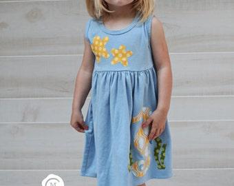 Baby dress applique etsy