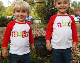 Naughty and Nice Christmas Shirt Set