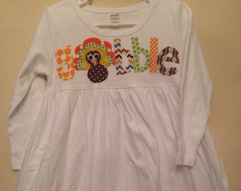 Gobble Thanksgiving Dress - Gobble Turkey