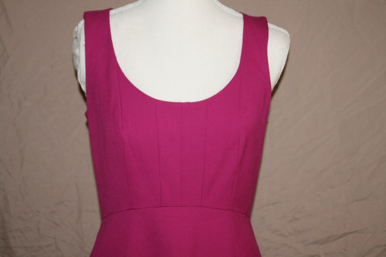 2P Ann Taylor Vintage Deep Pink Sheath Dress Sleeveless