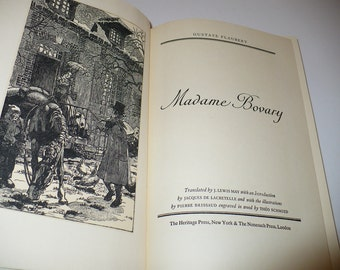 Madame Bovary, Author Gustave Flaubert, Books, Literature & Fiction, Literary Fiction, Vintage Books, Old Books, Illustrated Books, Romance
