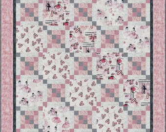 Ballet Cross Roads Quilt ePattern, 4775-4, ballet lap quilt pattern, ballet lap quilt