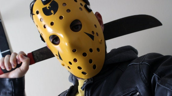 Miami Vice Neon Pink Blue Rave Jason Voorhees Friday the 13th Hockey Mask
