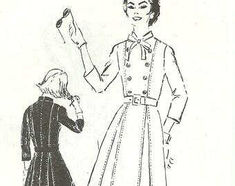 Spadea Designer Shirt Waist Dress Pattern UNCUT Bust 38 Spadea NS-241-2 Charles Montaigne 1960's Size 16