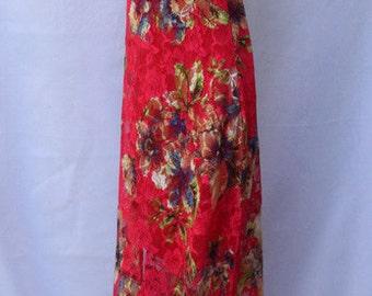 0c51c8e2a1d Beautiful Floral Lace Gown - Vintage 1990s - Excellent Condition