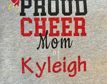Custom Personalized Proud Cheer Mom Raglan Tee! Airborne Elite Inspired!
