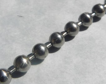 Stainless Steel Ball Chain - 6.3mm - #13 - By the Foot - Outdoor Mosaics