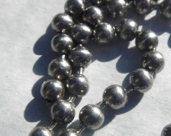 Stainless Steel Ball Chain - 4mm - #8 - By the Foot - Outdoor Mosaics