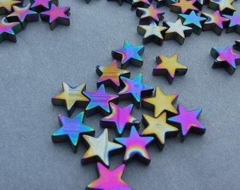 Star Beads - Colorful Metallic - 8mm - 20g