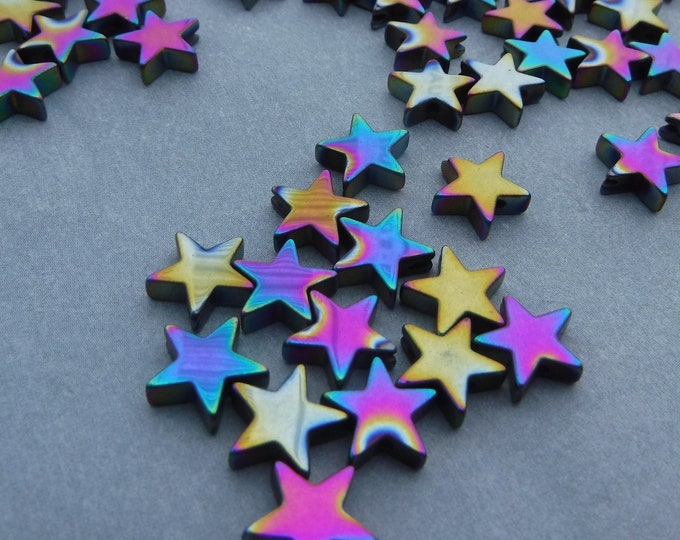 Star Beads - Colorful Metallic - 8mm - 20g
