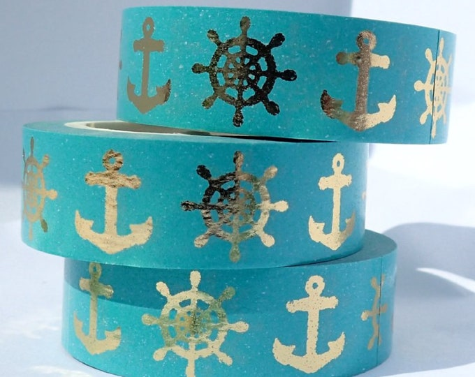Nautical Foil Washi Tape - 15mm x 10m