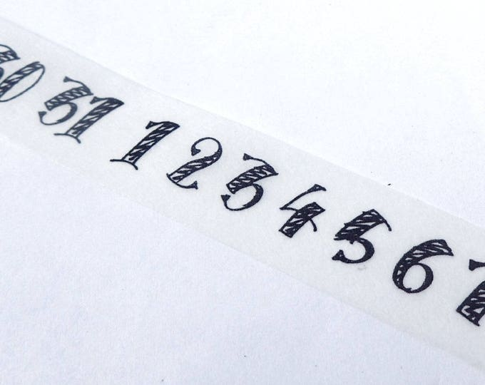 Numbers Washi Tape - Handwritten 1-31 for Planners Calendars 15mm x 7m - Paper Tape Great for Scrapbooking Paper Crafts