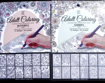 Adult Coloring Books Notecards - Set of 2 Books