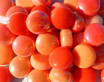 Orange Candy Mix Glass Drops - 100 grams - Mix of Gloss and Iridescent Finishes