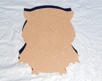 Owl Plaque -  Use as a Base for Mosaics Decoupage or Decorative Painting - 8 inch Unfinished MDF