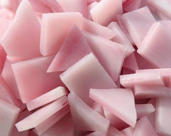 Pink Stained Glass Mosaic Tiles - 1/2 Pound - 5-15 mm Various Shapes